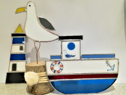 Workshop | Creative Craft Show : Manchester - Spring 2019 | CREATE A STAINED GLASS SEAGULL WITH TRACEY QUINN