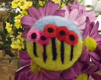 Workshop | Creative Craft Show : London Spring 2019 | NEEDLE FELTED FLOWER BROOCH with Val Hughes