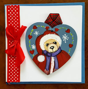 Workshop | The Creative Craft Show (featuring Art Materials Live)/ Simply Christmas - Autumn 2019 | Folk art Christmas bear with Wendy Grattan