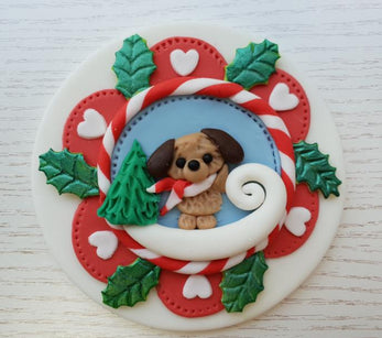 Workshop | Cake International 2018: NEC - Autumn 2018 | CHRISTMAS PUPPY PLAQUE with Emma Chamberlain - Renshaw Academy