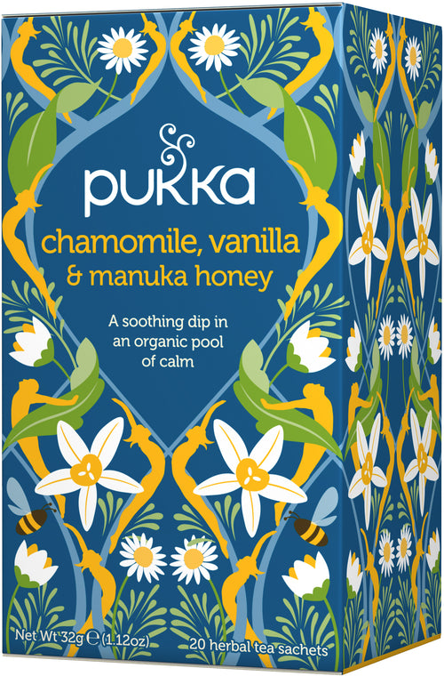 PUKKA Chamomile, Vanilla & Manuka Honey thee