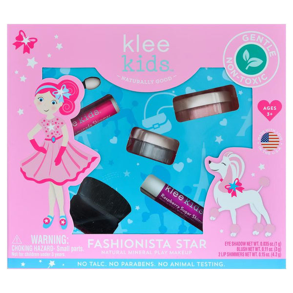 Klee Kids Fashionista Star 100% natuurlijke kinder speel make up set