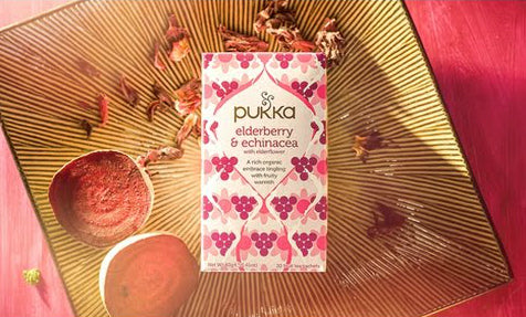 PUKKA Eldeberry & echinacea thee
