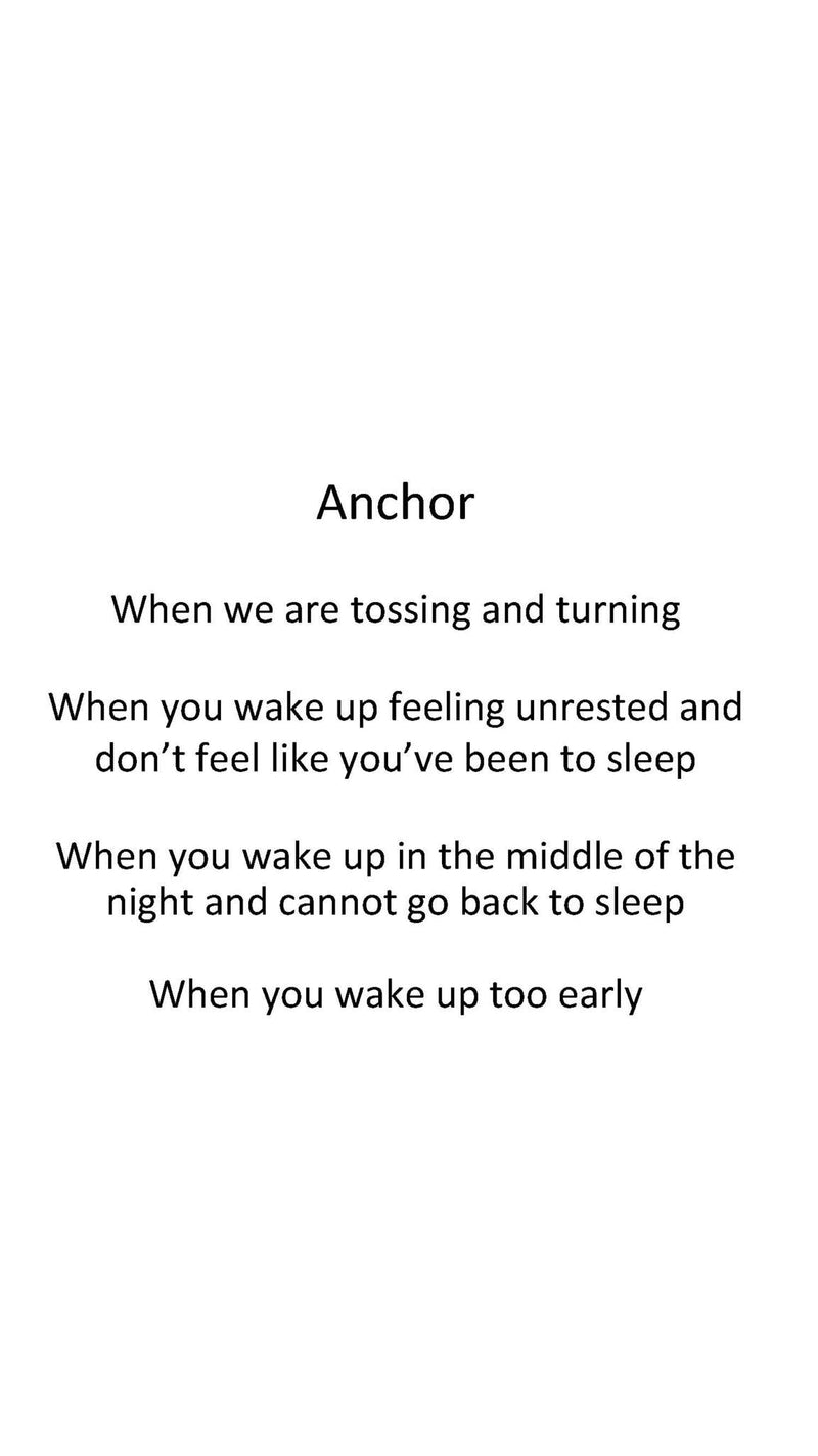 Anchor - ease back to sleep