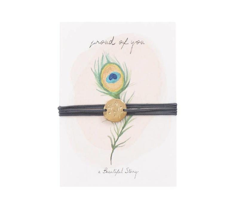 A Beautiful Story - jewelry postcard proud- proud of you - stars