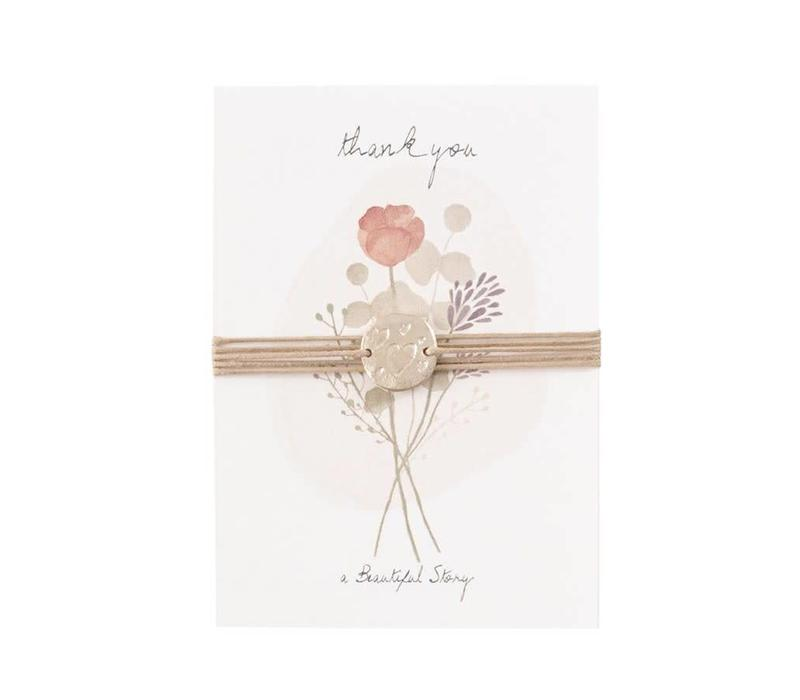A Beautiful Story - jewelry postcard flowers - thank you - heart