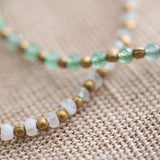 A Beautiful Story - Beautiful armband Aventurine en Maansteen