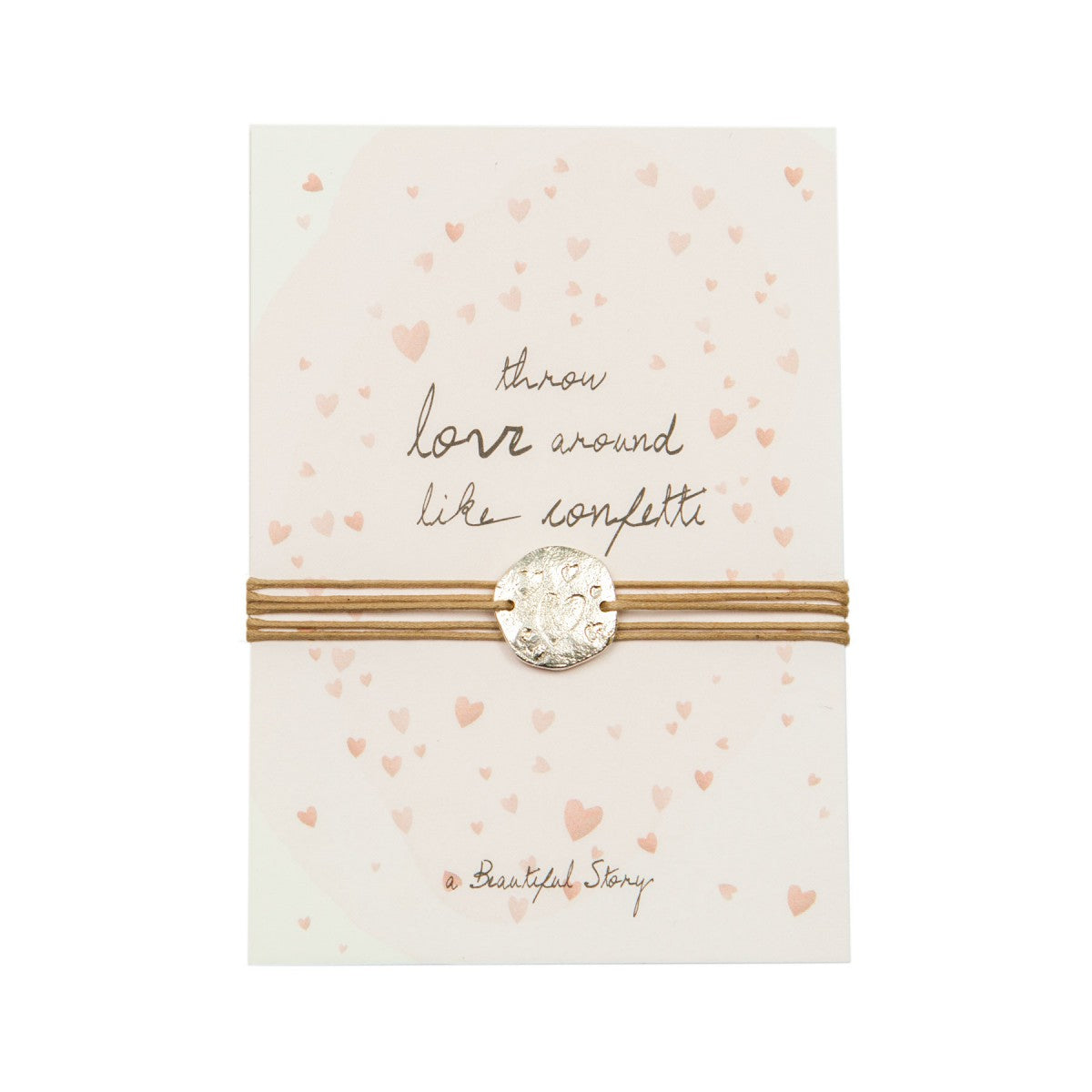 A Beautiful Story - jewelry postcard hearts - throw love around like confetti