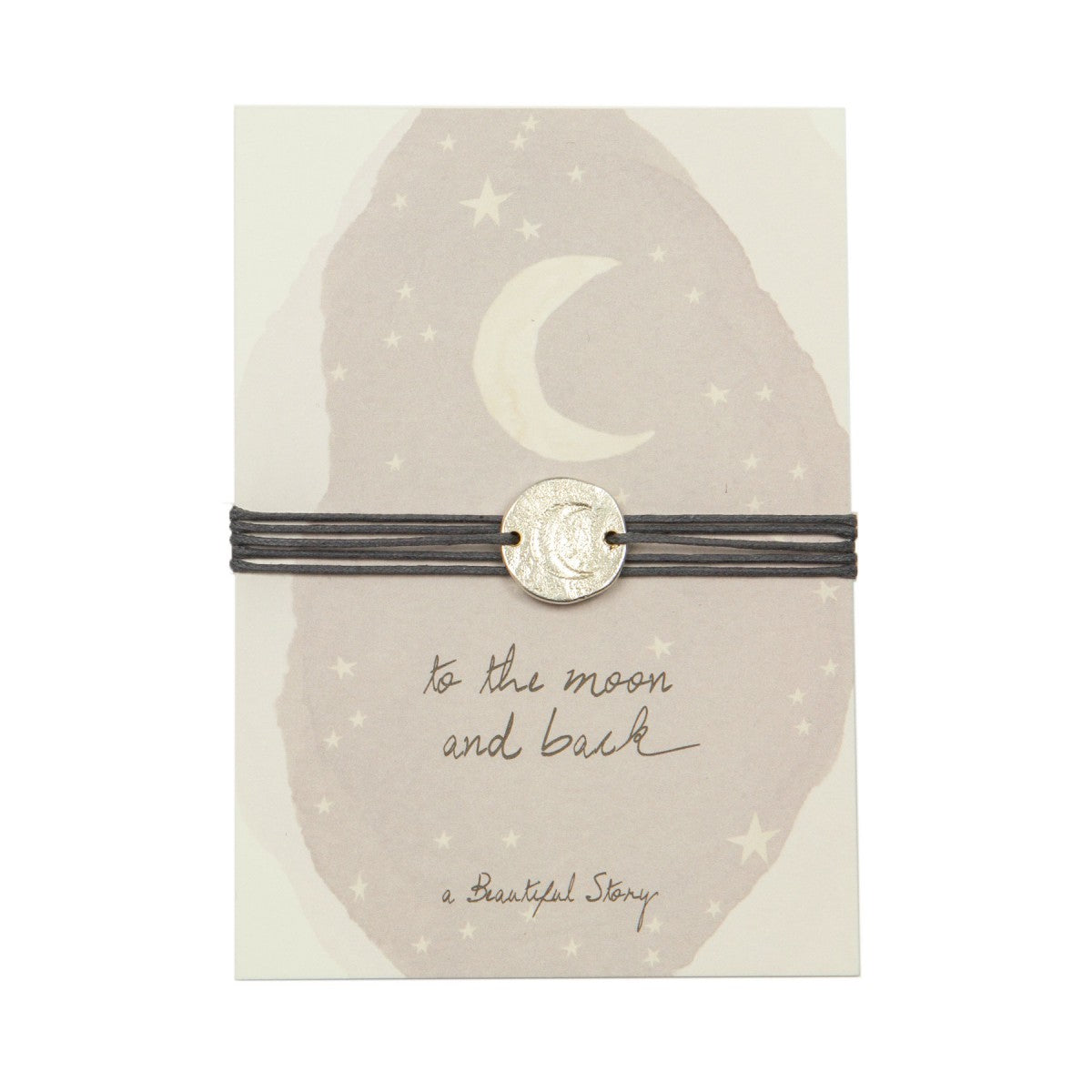 A Beautiful Story - jewelry postcard moon - to the moon an back