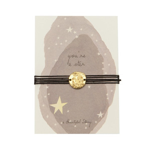 A Beautiful Story - jewelry postcard Star - you're a star