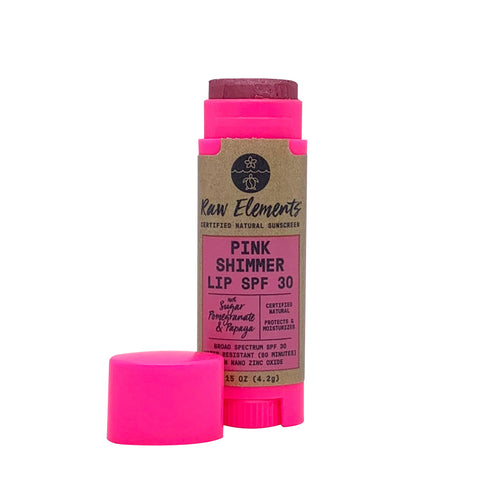 Raw Elements Pink Lip Shimmer SPF 30+