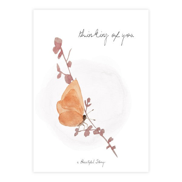 A Beautiful Story - Anischtkaart - Thinking of you (Butterfly)