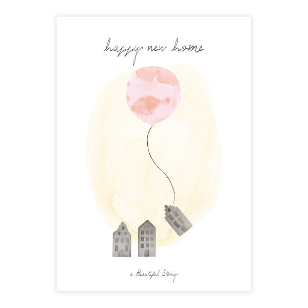 A Beautiful Story - Wenskaart + enveloppe - Happy New Home