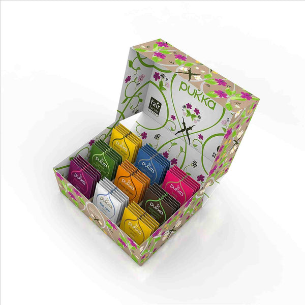 PUKKA Selection Thee Box - 2 - open - 9 smaken biologische thee Ayuvedische formules