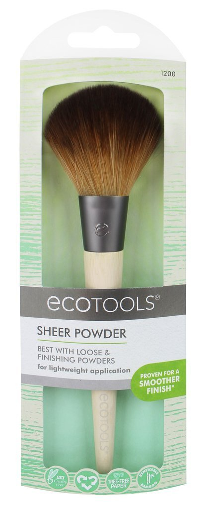 EcoTools Sheer Powder penseel - vegan -Teklan - bamboe - duurzaam