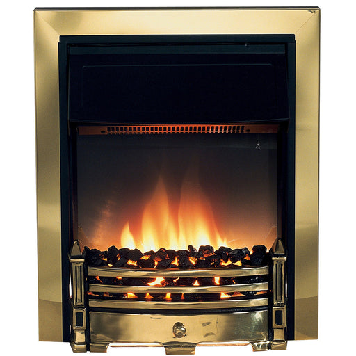 Dimplex Electric Fire Whitsbury White Brass Effect - Image 1
