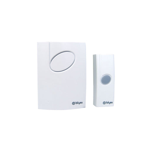 Blyss Wirefree White Portable Door Bell Kit - Image 1