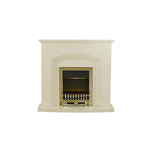 Blyss Kirkdale Cream Brass effect Electric Fire Suite - Image 1