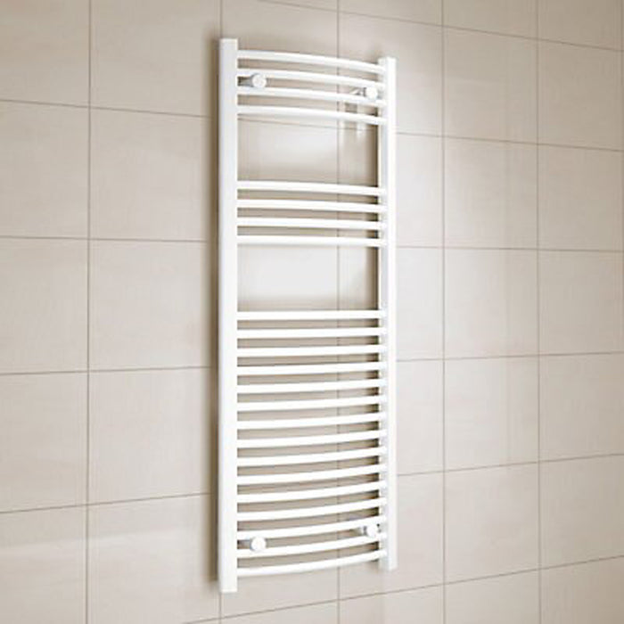 Kudox Electric Towel Warmer Curved 450x1200 mm White 456 W - Image 1