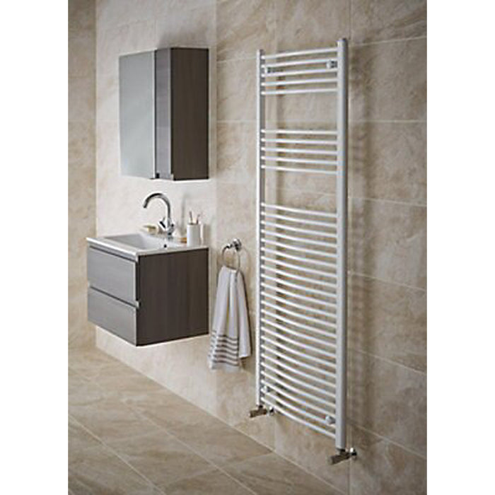 Kudox Electric Towel Warmer Curved 450x1200 mm White 456 W - Image 2