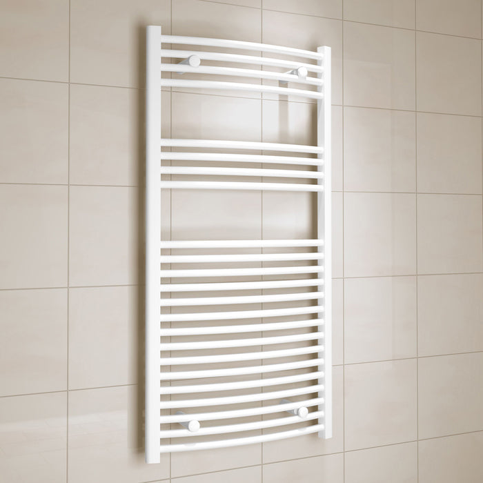 Kudox Electric Towel Warmer Curved 600x1200 mm White 573 W - Image 1