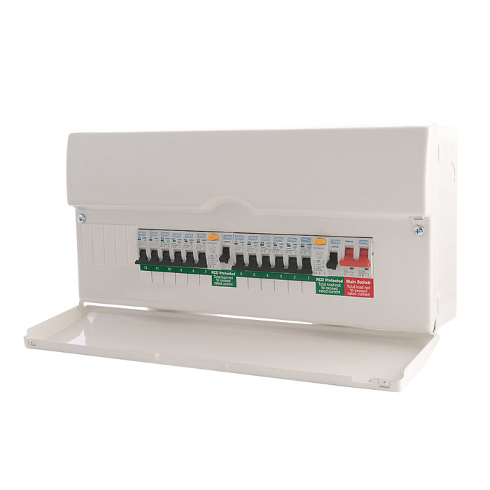 BG 22 Module 16 Way Populated High Intensity Dual RCD Consumer Unit - Image 1