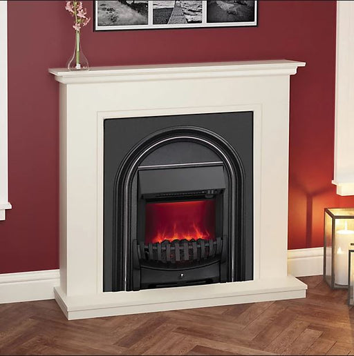 Be Modern Electric Fire Suite Colville Soft White & Anthracite Freestanding 2kW - Image 1