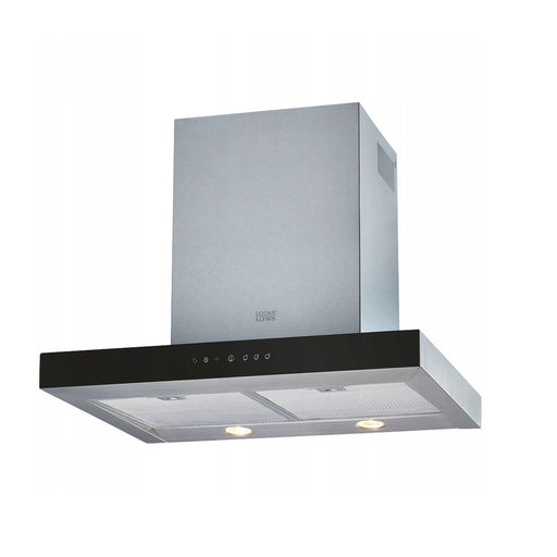 Cooke & Lewis TPCLMIRAG60 Box Chimney Cooker Hood Silver Black 60cm - Image 1