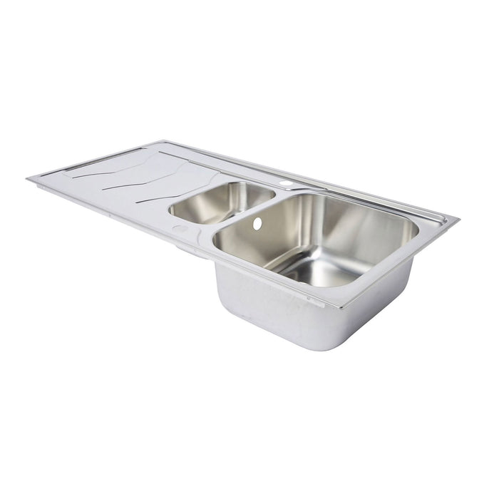 Cooke & Lewis Buckland 1.5 Bowl Polished Stainless Steel Sink - Image 3