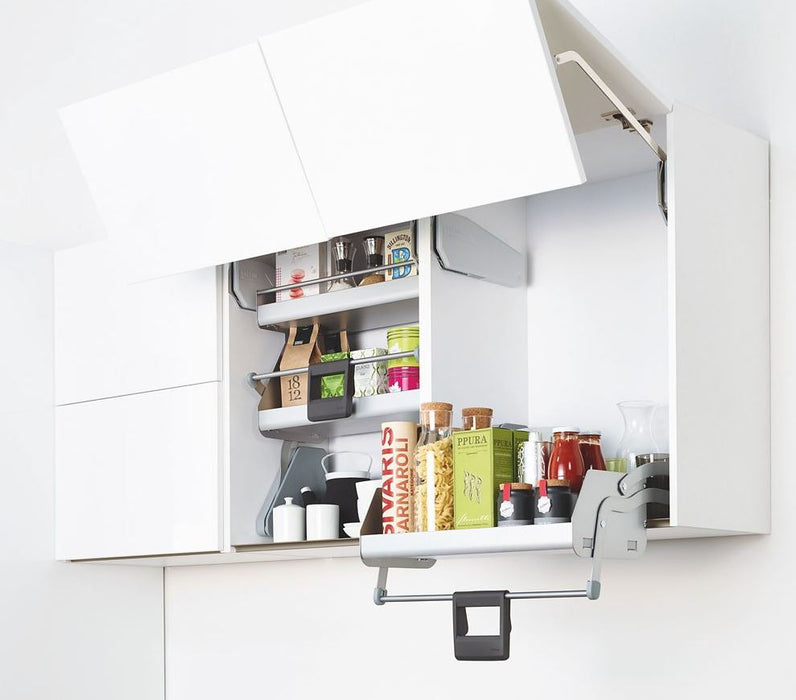 Kesseböhmer Pull Down Shelf Cabinet Storage IMove Silver Effect 470 x 270mm - Image 3