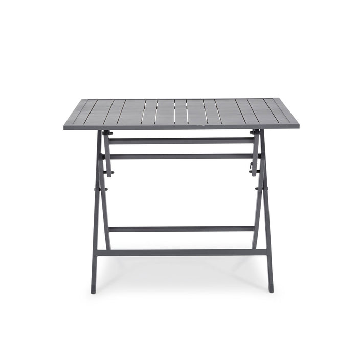 Blooma Dining Table Batang Metal 4 Seater Foldable Dark Grey Outdoor Garden - Image 2
