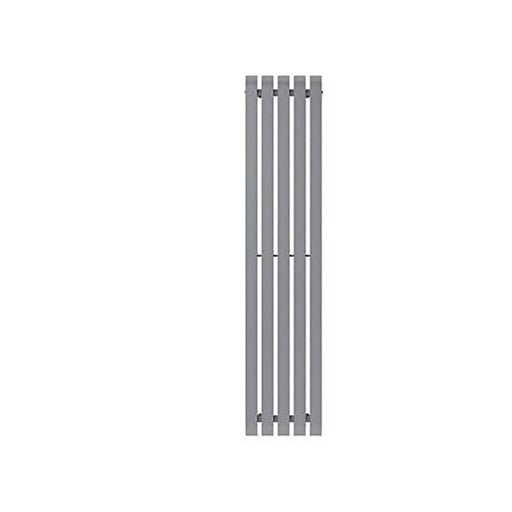 GoodHome Wilsona Vertical Designer Radiator Grey Painted (H)1800 mm (W)380 mm - Image 1