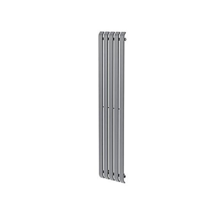 GoodHome Wilsona Vertical Designer Radiator Grey Painted (H)1800 mm (W)380 mm - Image 2
