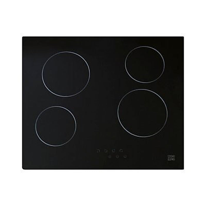Cooke & Lewis Ceramic Hob 4 Zone Black Glass CLCER60 W590mm - Image 2
