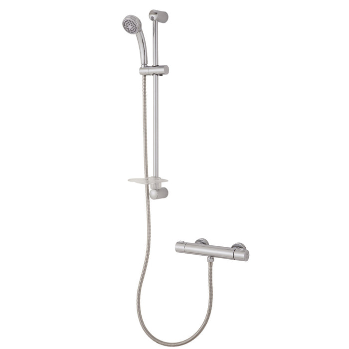 Cooke & Lewis Mixer Shower Imani Chrome Effect Thermostat temperature control - Image 1