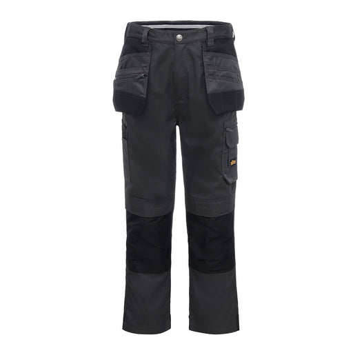 "Site Jackal Men's Safe Work Trousers Regular Fit Black Grey W36"" L32"" - Image 1"
