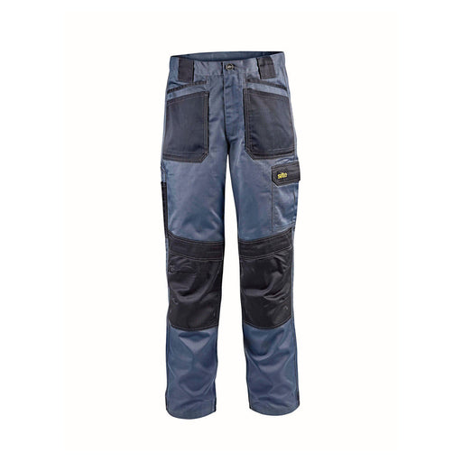 "Site Harrier Mens Work Trousers Grey Pro Tradesman / DWC26-001 W30"" L31"" - Image 1"