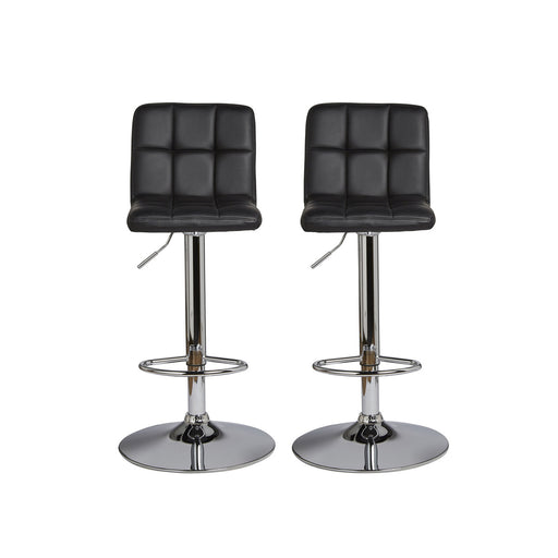 Lagan Black & Chrome effect Bar stool (H)1090mm (W)450mm, Pack of 2 - Image 1
