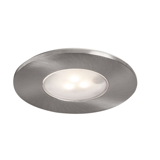 iDual Downlight IP65 Brushed Chrome Effect Fixed LED Downlight 7.5W Dimmable - Image 1