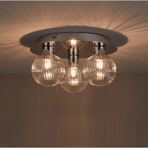 Eupraxia 3 Lamp Spotlight Ceiling Light Chrome Effect - Image 1