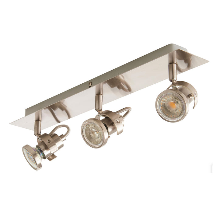 Arachne Ceiling Light 3 Lamp Spotlight Satin Nickel Effect - Image 1