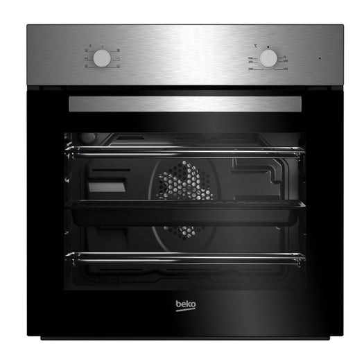 Beko QSE224X Black & Stainless Steel Single Multifunction Oven & Induction Hob Pack - Image 1