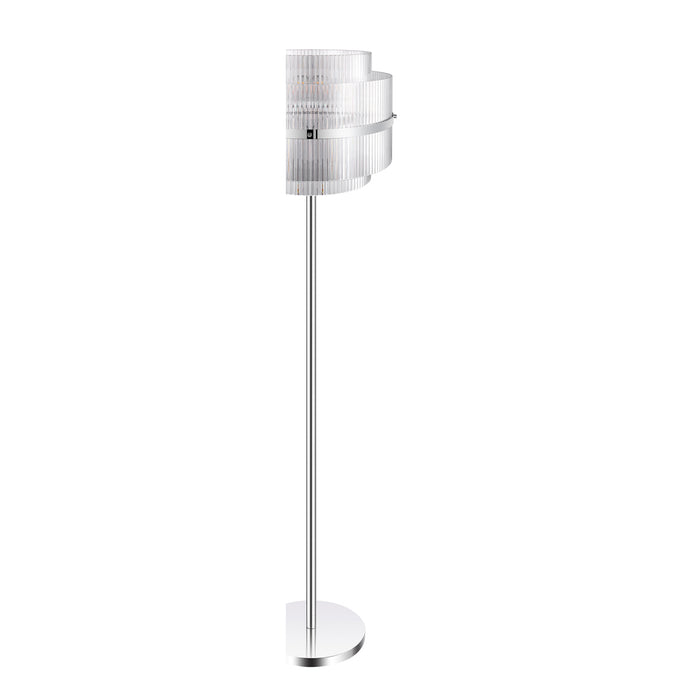 GoodHome Floor Light Rhyolit Chrome Effect Silver CFL (H)1470mm (Dia) 415mm E27 - Image 3