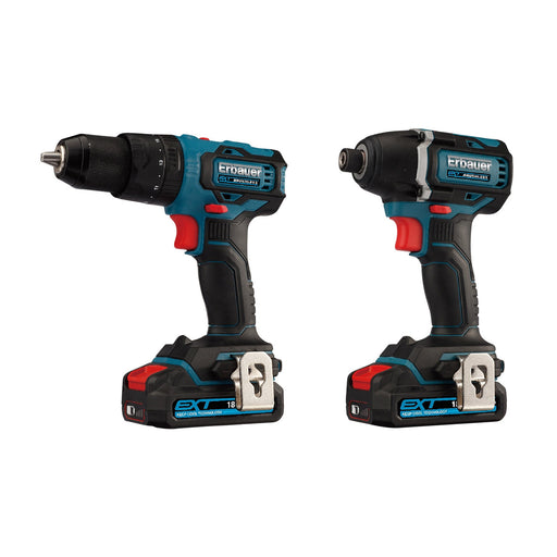 Erbauer Combi Drill And Impact Driver EXT  18V 2 x 2Ah Lion EID18-Li - Image 1
