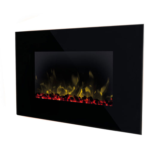 Dimplex Toluca Black Electric Fire Pebble and Crystal Effect - Image 1