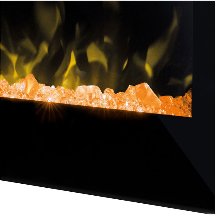 Dimplex Toluca Black Electric Fire Pebble and Crystal Effect - Image 3