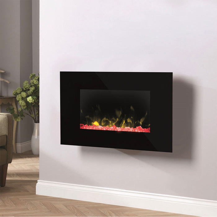 Dimplex Toluca Black Electric Fire Pebble and Crystal Effect - Image 4