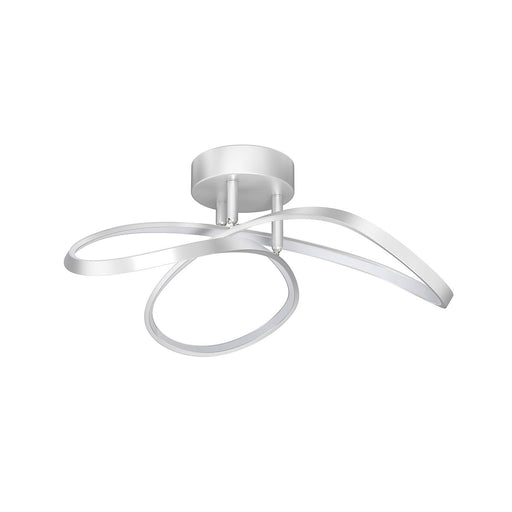 Polson LED Ceiling Light Modern Shape Matt Nickel Effect 20W - Image 1