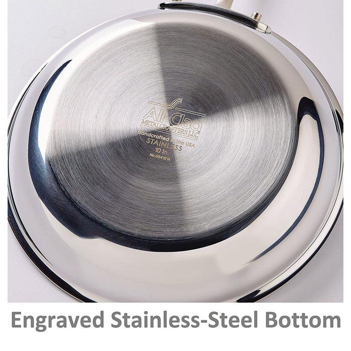All-Clad Sauce Pan with Lid Stainless Steel Tri-Ply 4-Quart Silver 3.79 liters - Image 4