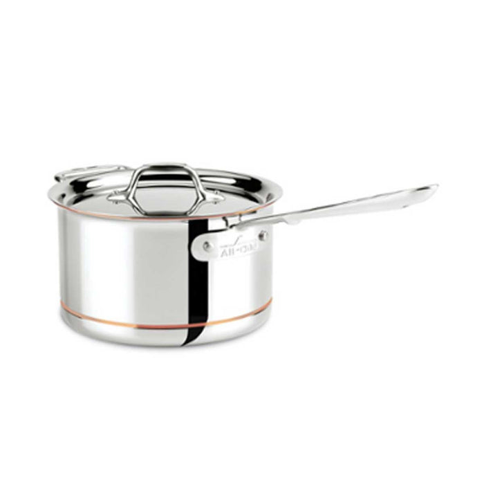 All-Clad D5 Saucepan with Lid 4.5L Copper Core Deep - Image 1